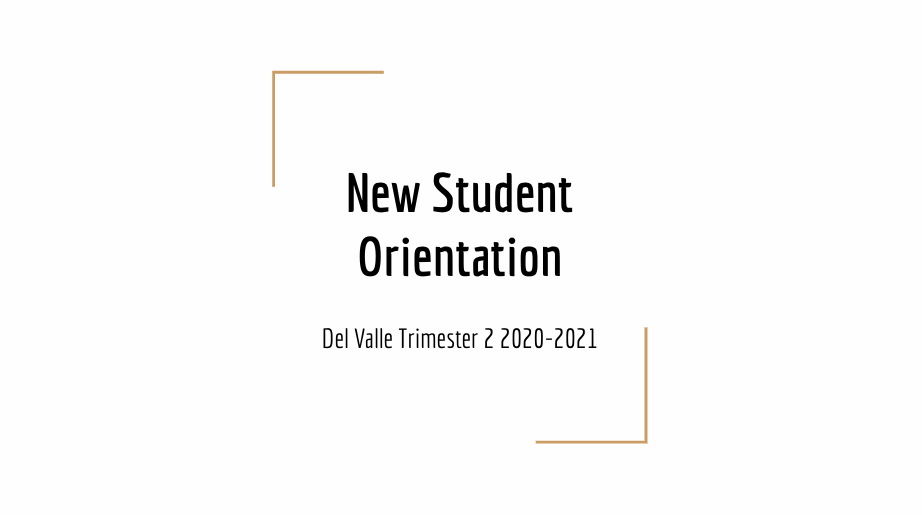 New Student Orientation Video English and Spanish