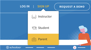 Log in/sign up Schoology banner