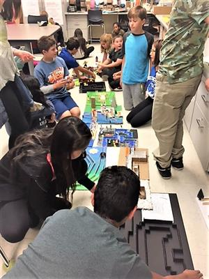 7th grade students take Automation and Robotics