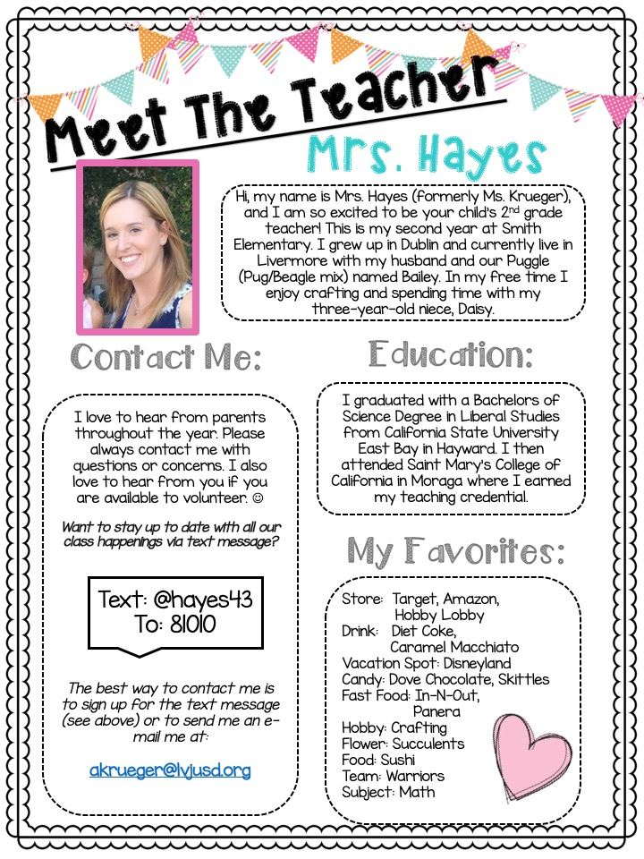 Get to know Mrs. Hayes