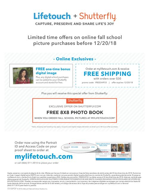Lifetouch and Shutterfly limited time offers
