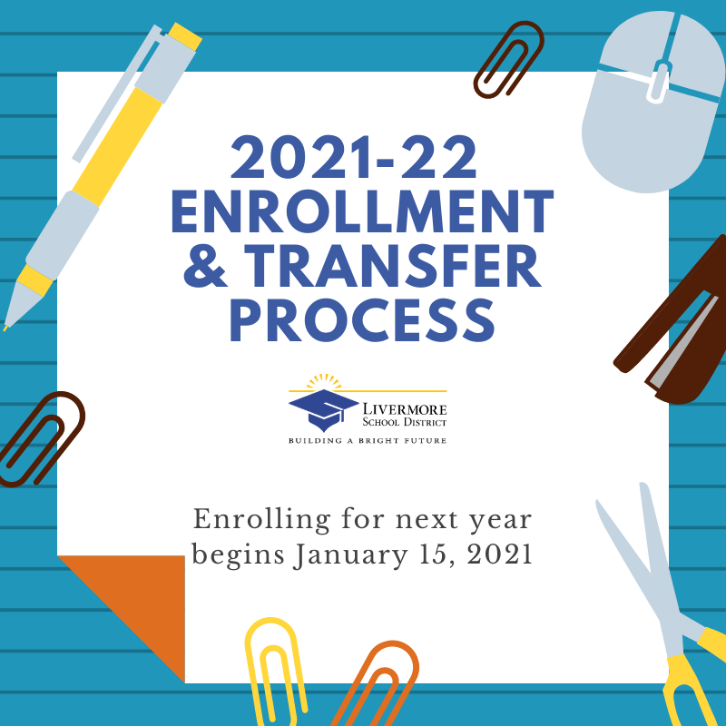 2021-22 Enrollment & Transfers starts January 15, 2021