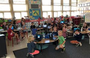 Kindergartners and Chromebooks