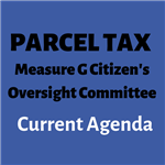 Parcel Tax Oversight Committee Current Agenda