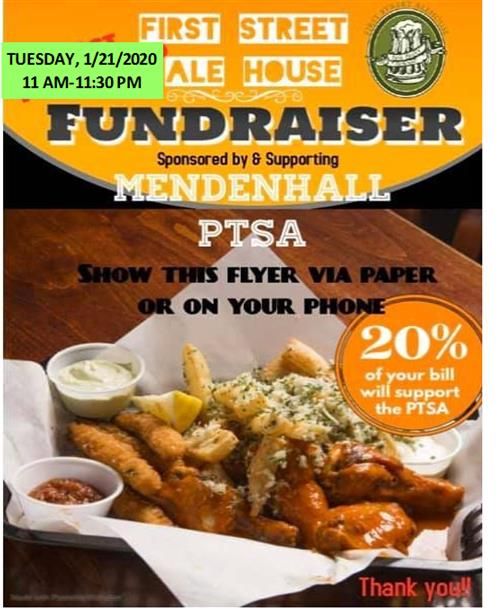Ale House Dine-out Jan 21st