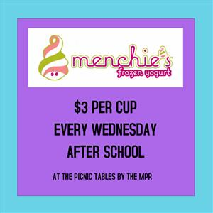 Menchies $3/cup after school on Wednesday